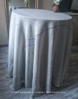 Скатерть лён серый д. 260 см 8 кубанцов