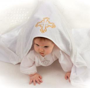 Полотенце-уголок Крестик золотой