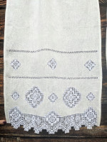 Занавеска льняная с вышивкой №3