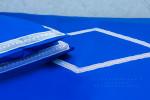 Постельное бельё  Кружевное синее, любые размеры!