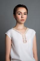 Блуза  Крестецкая строчка. Хлопок- вискоза. р. 44-46