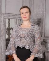 Блуза Роскошная (50-52 р. в наличии) Елецкое кружево