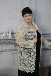 Манто Вологодское кружево на заказ. р. 54-56