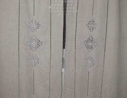 Занавески из льна с вышивкой №1