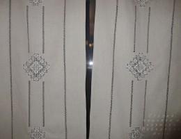 Занавески из льна с вышивкой №2