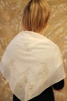 Платок для храма  Бабочки-2 Золотная вышивка