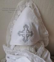 Полотенце-уголок Крестик серебряный