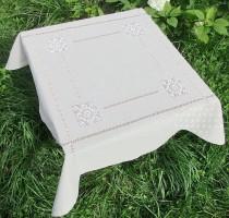 Скатерть квадратная 90/90 натуральный лен  (+салфетки по желанию)