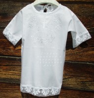 Крестильная рубашка  Белые Ангелы 78Б