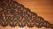Полушалок черный   Вятское кружево