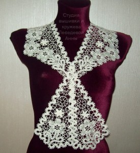 Воротник-галстук Вологодское кружево