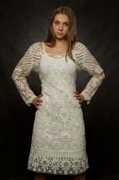 Платье до колена арт. 994 Елецкое кружево