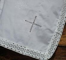 Пеленка крестильная   вышивкой Ивановская строчка 688