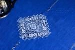 Скатерть  3 кубанца синяя лен 100%  (+6 салфеток по желанию)