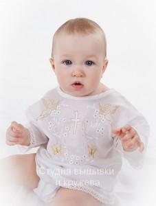Крестильная рубашка  Золотые Ангелы 78Ж