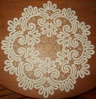 Салфетка круглая д. 46 Вологодское кружево