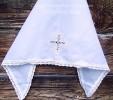 Косынка  крестильная 688а