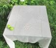 Скатерть квадратная 140/140 натуральный лен  (+салфетки по желанию)