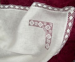 Пеленка крестильная   вышивкой Ивановская строчка