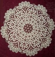 Салфетка круглая д.62 Вологодское кружево