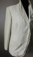 Льняной пиджак с Вологодским кружевом