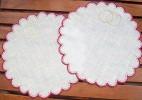 Салфетка для обручальных колец и свадебных бокалов