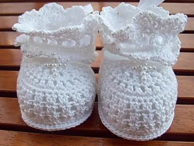Пинетки белые 8б