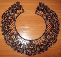 Комплект воротник+манжеты  черный Вятское кружево