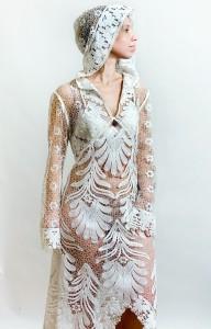 Платье с капюшоном Елецкое кружево