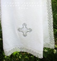 Полотенце 140/70 с серебряным крестом
