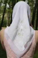 Платок Бабочки , золотная вышивка