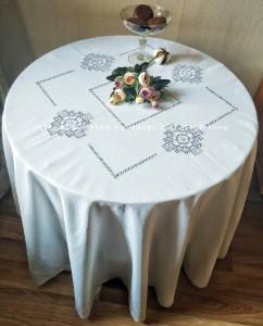 Скатерть круглая д. 220 см 4 ромба (+6 салфеток по желанию)