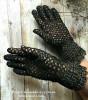 Перчатки черные Елецкое кружево
